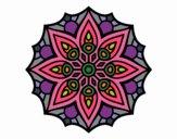 Dibujo Mandala simetría sencilla pintado por belladona