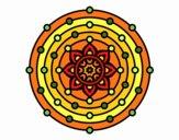 Dibujo Mandala sistema solar pintado por belladona