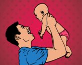 Dibujo Padre y bebé pintado por jovankaS