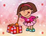 Niña con regalo