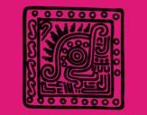 Dibujo Símbolo maya pintado por AngieRC15