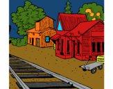 Dibujo Estación de tren pintado por Taft1912