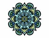 Dibujo Mandala mundo árabe pintado por gogy