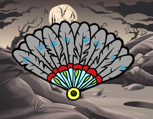 Dibujo Abanico de plumas pintado por carrusel