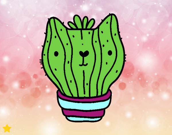 Dibujo Cactus gato pintado por Osiita