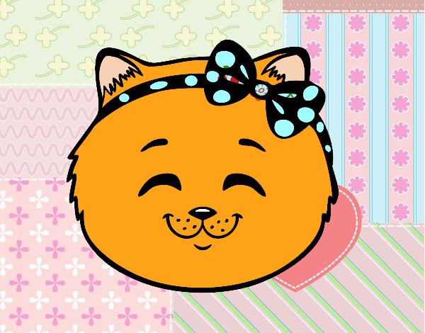 Dibujo Cara de gatita feliz pintado por carrusel