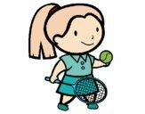 Chica tenista