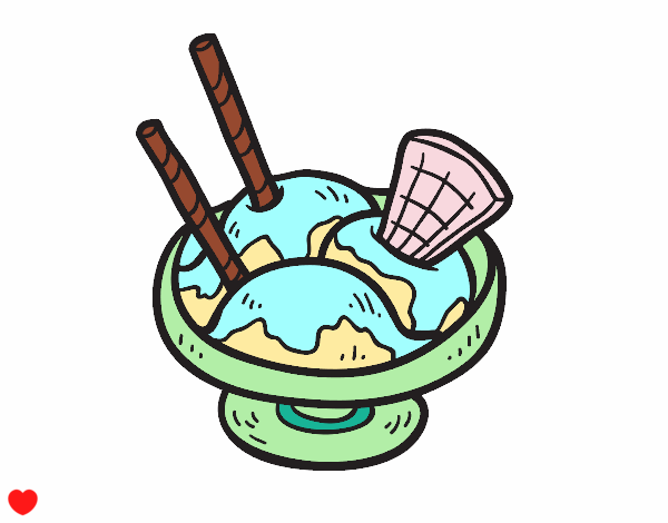 Dibujo Copa de helado pintado por Osiita