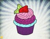 Dibujo Cupcake de limón pintado por Michellinh