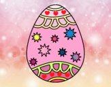 Dibujo Huevo con estrellas pintado por cuyito