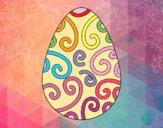 Dibujo Huevo decorado pintado por cuyito