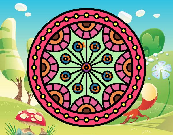 Dibujo Mandala equilibrio mental pintado por carrusel
