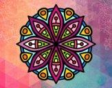 Dibujo Mandala para la concentración pintado por cuquina