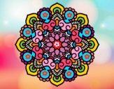 Dibujo Mandala reunión pintado por cuquina