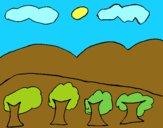 Paisaje con montañas