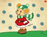Dibujo Ratita abrigada en Navidad pintado por Michellinh