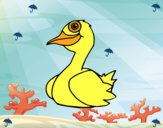 Dibujo Un pato pintado por carrusel