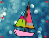 Dibujo Un velero pintado por carrusel