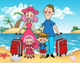 Una familia de vacaciones