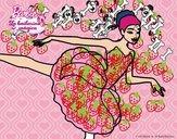 Barbie en primer arabesque