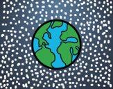 Dibujo El planeta tierra pintado por Joer