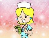 Enfermera de visita