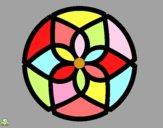 Dibujo Mandala 44 pintado por Michellinh