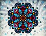 Dibujo Mandala mundo árabe pintado por Rengifo