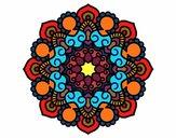 Dibujo Mandala reunión pintado por raquelloki