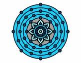 Dibujo Mandala sistema solar pintado por Champio