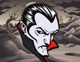 Dibujo Perfil de Drácula pintado por Joer
