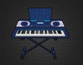 Dibujo Piano sintetizador pintado por EESganer
