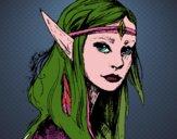 Dibujo Princesa elfo pintado por angieyujan