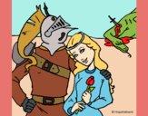 San Jorge y princesa