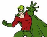 Dibujo Superhéroe enmascarado pintado por raquelloki