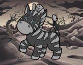 Una cebra africana