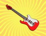 Dibujo Una guitarra eléctrica pintado por Joer