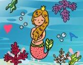 Dibujo Una reina sirena pintado por angieyujan
