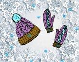 Conjunto de guantes y gorro