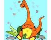 Diplodocus sentado