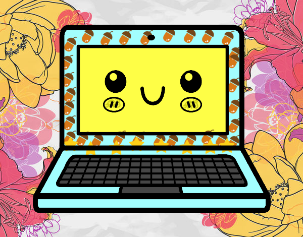 Dibujo Un ordenador portátil pintado por carrusel