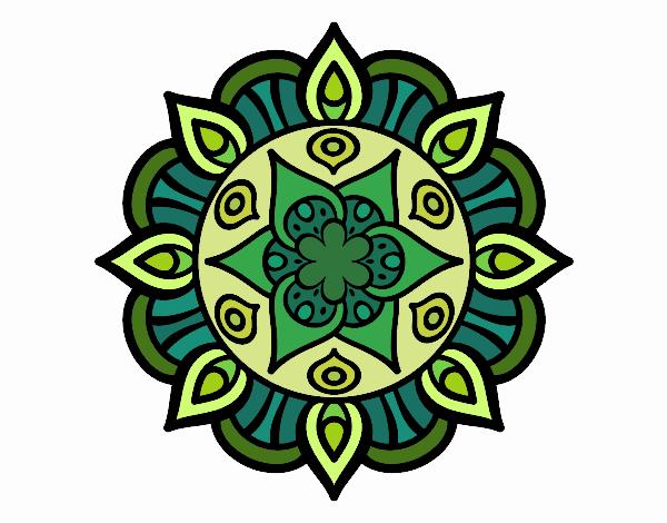 Dibujo Mandala vida vegetal pintado por lina200714