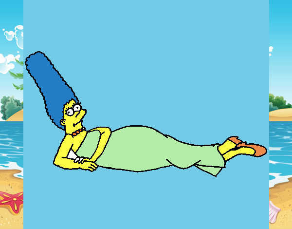 Dibujo Marge pintado por lina200714