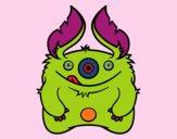 Dibujo Monstruo peludo pintado por noralopez