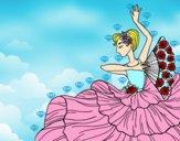 Dibujo Mujer flamenca pintado por NATALIACAS