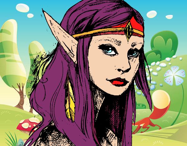 Dibujo Princesa elfo pintado por Ytap