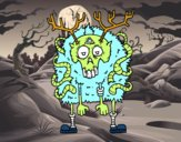 Dibujo Reno zombie pintado por Ytap