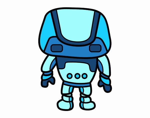Dibujo Robot fuerte pintado por lina200714