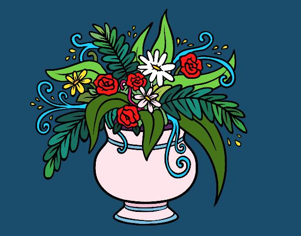 Dibujo Un jarrón con flores pintado por Ytap