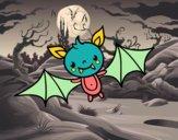 Dibujo Un murciélago de Halloween pintado por Ytap